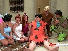 Kinky porn parody video to the Flintstones toon flick