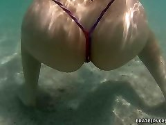 Bratperversions.com Hidden Cam Beach Underwater  Cam