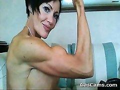 Muskulöse, Reife Frau Beugen