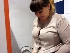 pissing in public toilet shopping mall