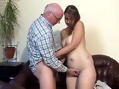 Plump german girl fucked by older man