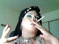 Goddess Bella Donna,a plumper smoking gypsy Queen.