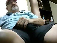 Hot redneck dad with giant boner