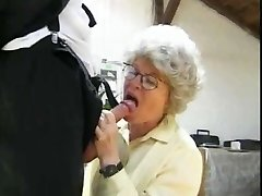 Granny Smashing 2 Guys by snahbrandy