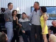 German Mom And Daughter gang-bang (Full Video)