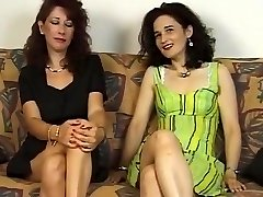 Two Mature Hairy Damsel s Give Him Bj