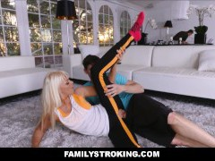 Workout Step Mom Screwed by Son