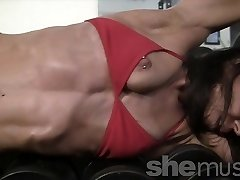 Mature Bulky Valerie in the Gym