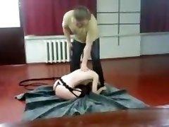 Lady whipped hard