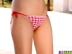 Mikako Horikawa in underwear plays a plenty of