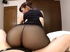 Japanese mature black stockings sex