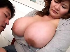 Blowing Asian Boobs