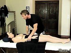 Duped cutie massaged cum
