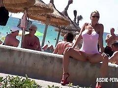 Aische Pervers - Pornoskandal am Ballermann - Blowjob, Cumshot, Spermawalk