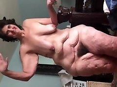 Waving Nude and Hairy