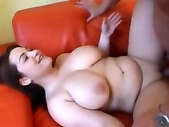 Cute Chubby girl having tits gargled and fucked