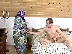FAT BBW Grandmother MAID FUCKED HARDLY IN THE Guest Room