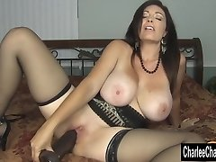 Horny Big Melon MILF Charlee Chase Stuffs Pussy With Ginormous Black