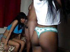 FFM Ebony Ebony Threesome Oral