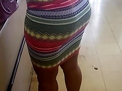 Thick Milf  Wearing Skirt in Dollar Store