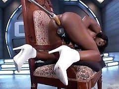 Ebony Babe Splashes All Over Her Toys
