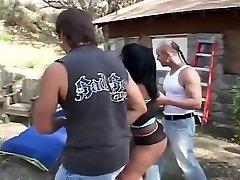 Epic homemade Black and Ebony, Group Intercourse xxx scene