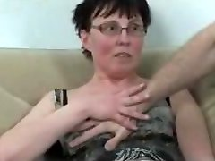 Horny mature fisted and fucked by dude and ebony stunner