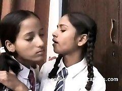 Indian School Dolls Filmed By Teacher In Lesbo Sex