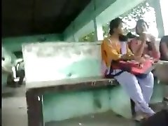 Jizzing to 3 REAL INDIAN Chicks in Public