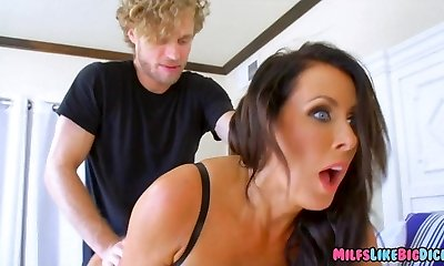 Big Tit Cougar attempts a new Cock