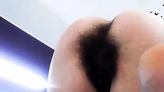 Furry amateur babe enjoys a heavy orgasm with her toys