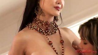 Asian harem g/g group sex