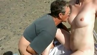 Bare Beach - Bashful Wife Plays with Strangers