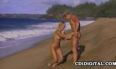 Kascha - Blonde BombShell Retro Beach Sex