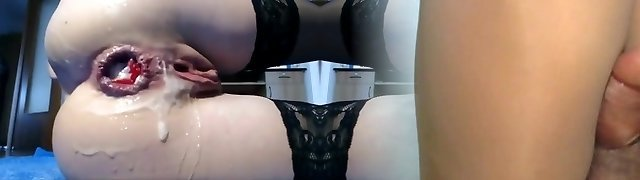 Incredible handsome girl punished her ass 2