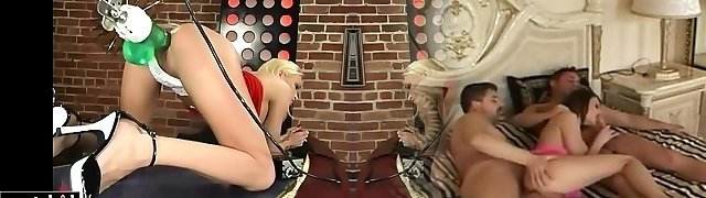 Super-steamy blonde experiments with new machines