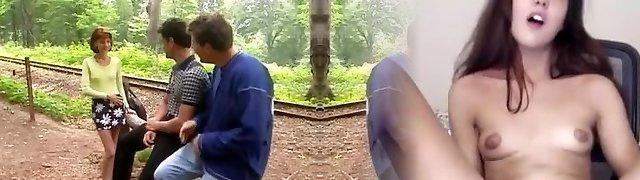 Margot, Anal Threeway in the Railway
