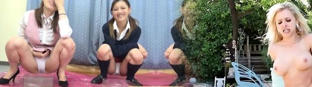 ?JAPAN?peeing peeping rest room pii pis schoolgirl
