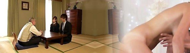 Akiho Yoshizawa in Bride Porked by her Dad in Law part 1.Two