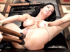 Please welcome the fabulous and sexy Veronica Avluv to HogTied! Veronica is a Nympho Anal MILF that loves hard, squirting orgasms in tight bondage. Limb stretching bondage positions expose all of her hungry holes for hard double penetration and super soaking squirting orgasms.