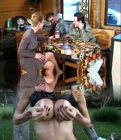 Russian mature Natalie smashed by two boys
