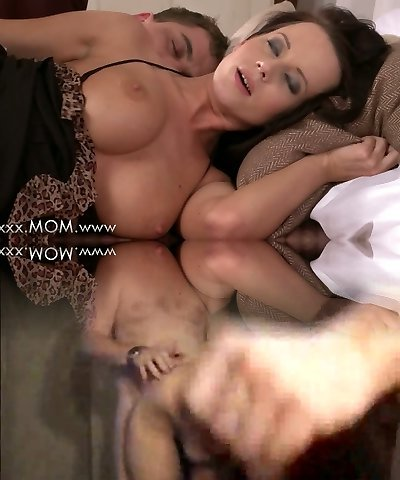 Mommy Busty Brunette Cougar takes his length