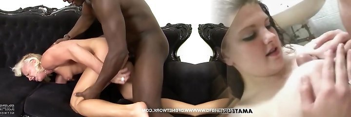 Mature drilled by ebony guys in hardcore interracial Anal