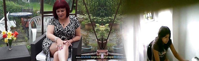 EUROPEMATURE - Cute mature Christina shaking her big titties