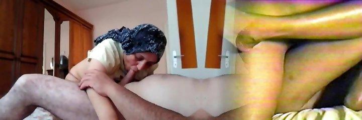 Hijab Turkish Mummy Fuck and Oral Job Kopftuch