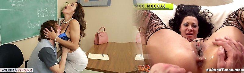 Nasty mom Francesca Le entices hot stud Tyler Nixon  in the classroom