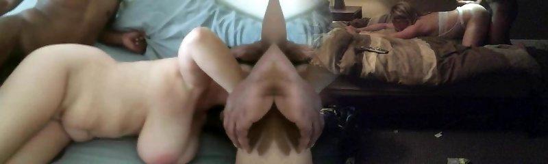 MILF Mommy Splattering BIG BLACK COCK GANGBANG