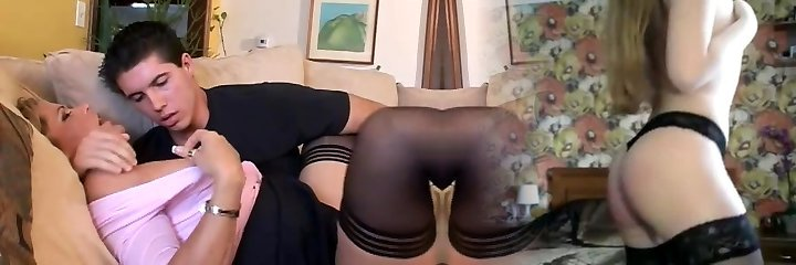 Mature mommy fucks young guy