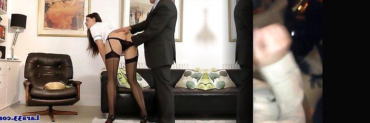 British milf in stockings getting fingered