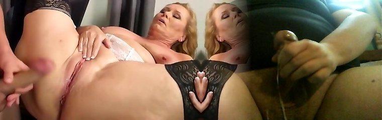 Best homemade Mature, Stockings sex video